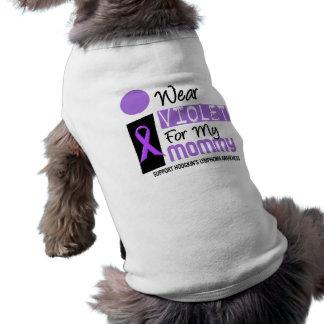 Llevo la violeta para mi linfoma de Hodgkins de la Playera Sin Mangas Para Perro
