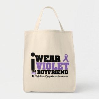 Llevo la violeta para mi linfoma de Hodgkins del n Bolsa Tela Para La Compra