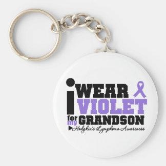 Llevo la violeta para mi linfoma de Hodgkins del n Llavero Redondo Tipo Pin