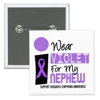 Llevo la violeta para mi linfoma de Hodgkins del Pin Cuadrado