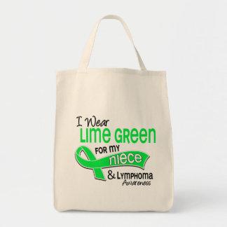 Llevo linfoma de la sobrina de la verde lima 42 bolsa tela para la compra