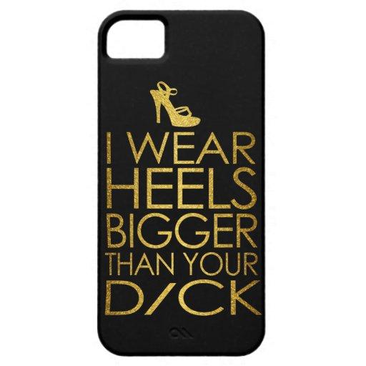 Llevo los talones más grandes que su d/ck iPhone 5 Case-Mate funda