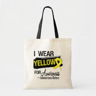 Llevo materias amarillas de la conciencia de la en bolsa lienzo