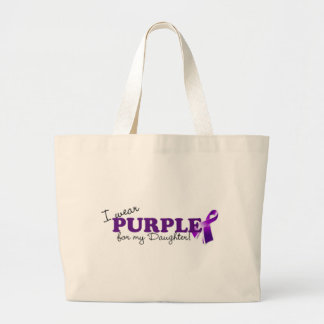 Llevo púrpura bolsas lienzo