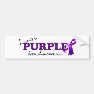 Llevo púrpura pegatina de parachoque