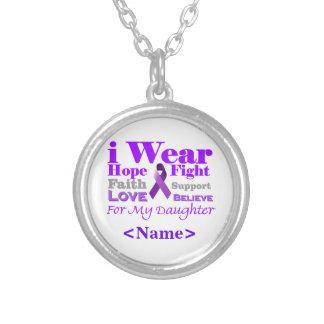 Llevo púrpura - mi hija tiene epilepsia colgante redondo