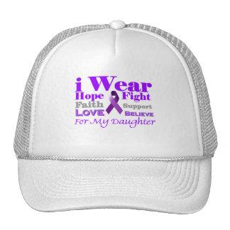 Llevo púrpura - mi hija tiene epilepsia gorras