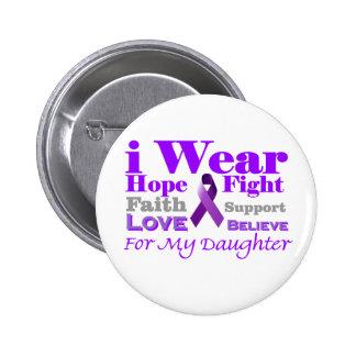 Llevo púrpura - mi hija tiene epilepsia pin redondo de 2 pulgadas