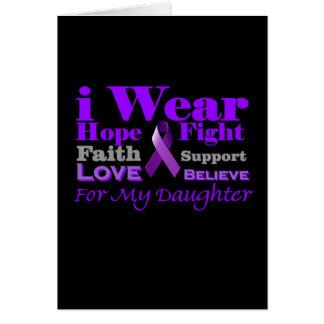 Llevo púrpura - mi hija tiene epilepsia tarjeta de felicitación