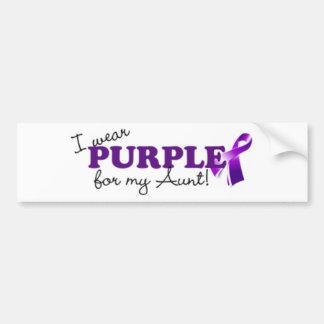 Llevo púrpura pegatina para auto