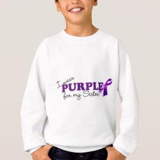 Llevo púrpura sudadera