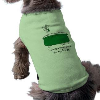 Llevo siempre verde camiseta de perro