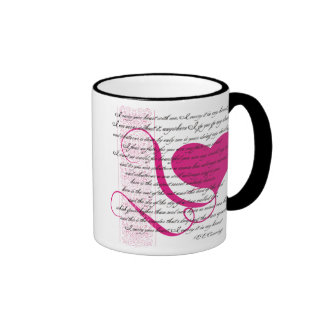Llevo su taza de café del corazón