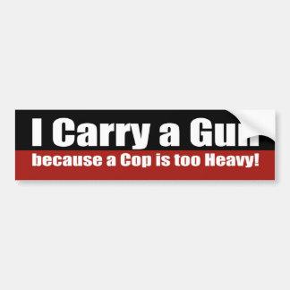 Llevo un arma pegatina de parachoque