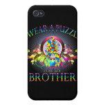Llevo un rompecabezas para mi Brother (floral) iPhone 4 Coberturas