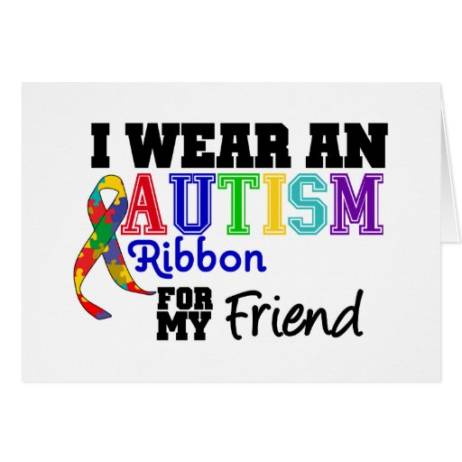 Llevo una cinta del autismo para mi amigo felicitacion