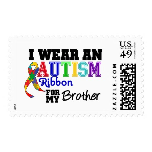 Llevo una cinta del autismo para mi Brother Sello