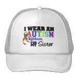 Llevo una cinta del autismo para mi hermana gorro