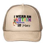Llevo una cinta del autismo para mi héroe gorro de camionero