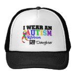 Llevo una cinta del autismo para mi hija gorro de camionero