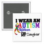 Llevo una cinta del autismo para mi hija pin