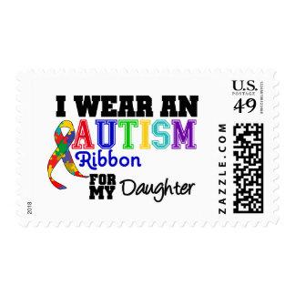 Llevo una cinta del autismo para mi hija sellos