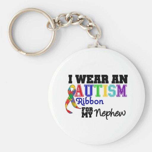 Llevo una cinta del autismo para mi sobrino llaveros personalizados