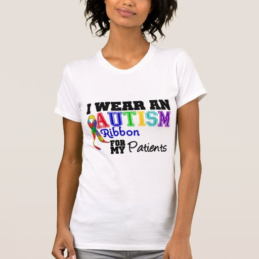 Llevo una cinta del autismo para mis pacientes playera