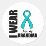 Llevo una cinta del trullo para mi abuela etiquetas redondas