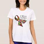 Llevo una cinta para mi hermana - conciencia del camiseta