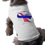 Llevo una cinta para mi héroe - cáncer de pecho ma camisa de perro