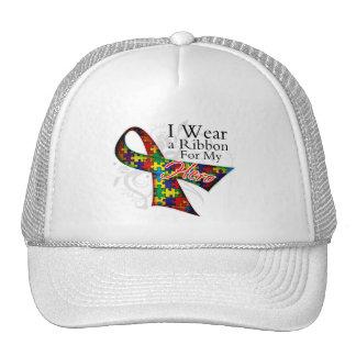 Llevo una cinta para mi héroe - conciencia del aut gorras de camionero