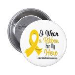 Llevo una cinta para mi héroe - Neuroblastoma Pins