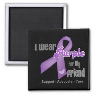 Llevo una cinta púrpura para mi amigo imán de frigorifico