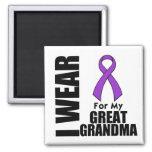 Llevo una cinta púrpura para mi Grande-Abuela Imanes