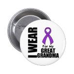 Llevo una cinta púrpura para mi Grande-Abuela Pin