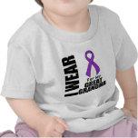Llevo una cinta púrpura para mi Grande-Abuela Camisetas