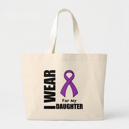 Llevo una cinta púrpura para mi hija bolsas de mano