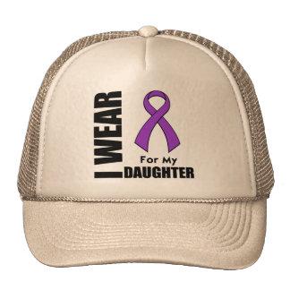 Llevo una cinta púrpura para mi hija gorros