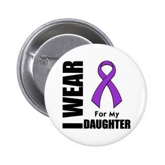Llevo una cinta púrpura para mi hija pin