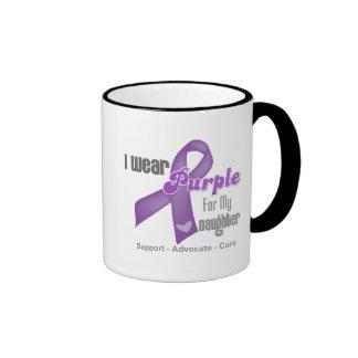 Llevo una cinta púrpura para mi hija tazas de café