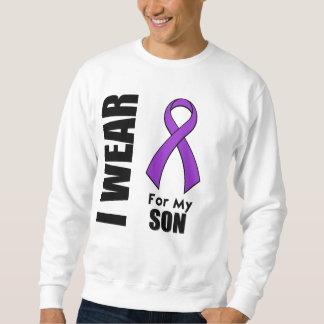 Llevo una cinta púrpura para mi hijo sudadera