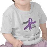 Llevo una cinta púrpura para mi mamá camisetas