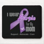 Llevo una cinta púrpura para mi mamá tapete de ratones