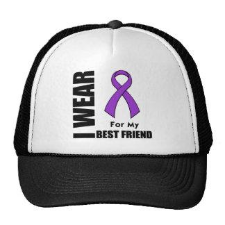 Llevo una cinta púrpura para mi mejor amigo gorras