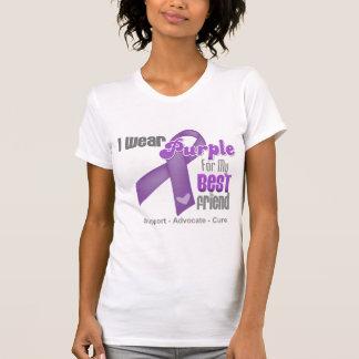 Llevo una cinta púrpura para mi mejor amigo tee shirt