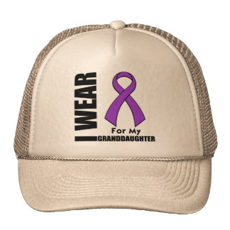 Llevo una cinta púrpura para mi nieta gorras de camionero