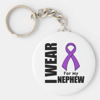 Llevo una cinta púrpura para mi sobrino llavero