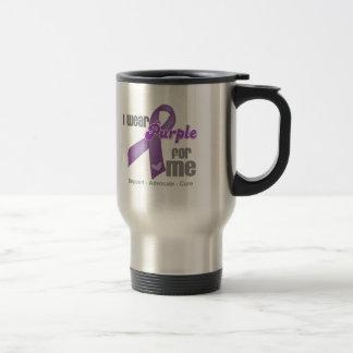 Llevo una cinta púrpura para mí taza de café