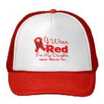 Llevo una cinta roja para mi hija gorra